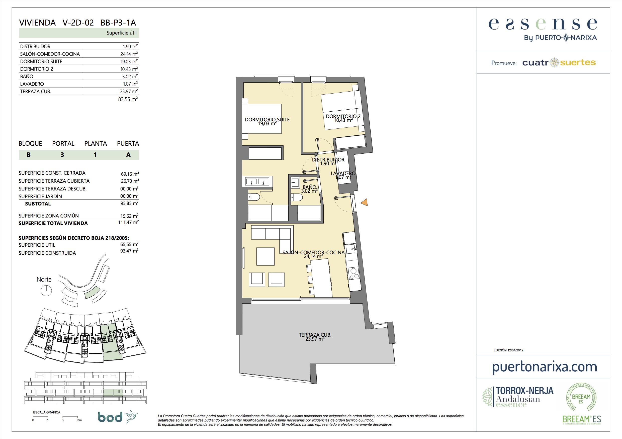 Plano piso B.3.1.A