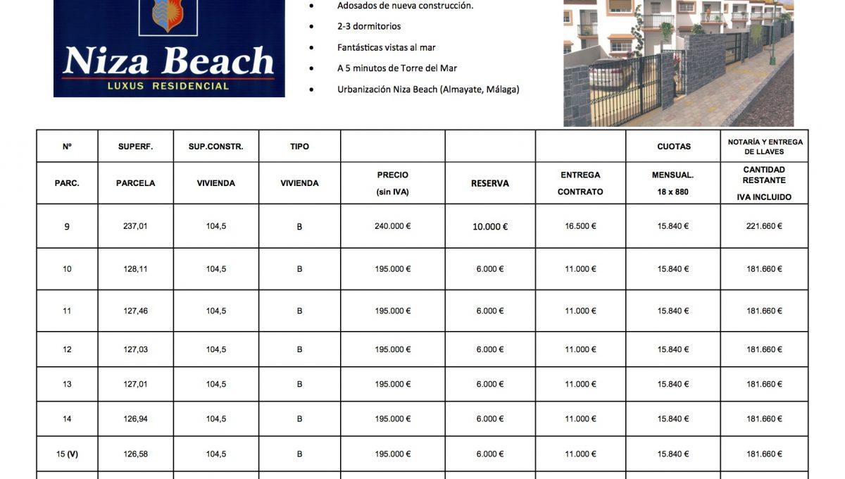 Lista precios Tercera Fase Mirador Beach